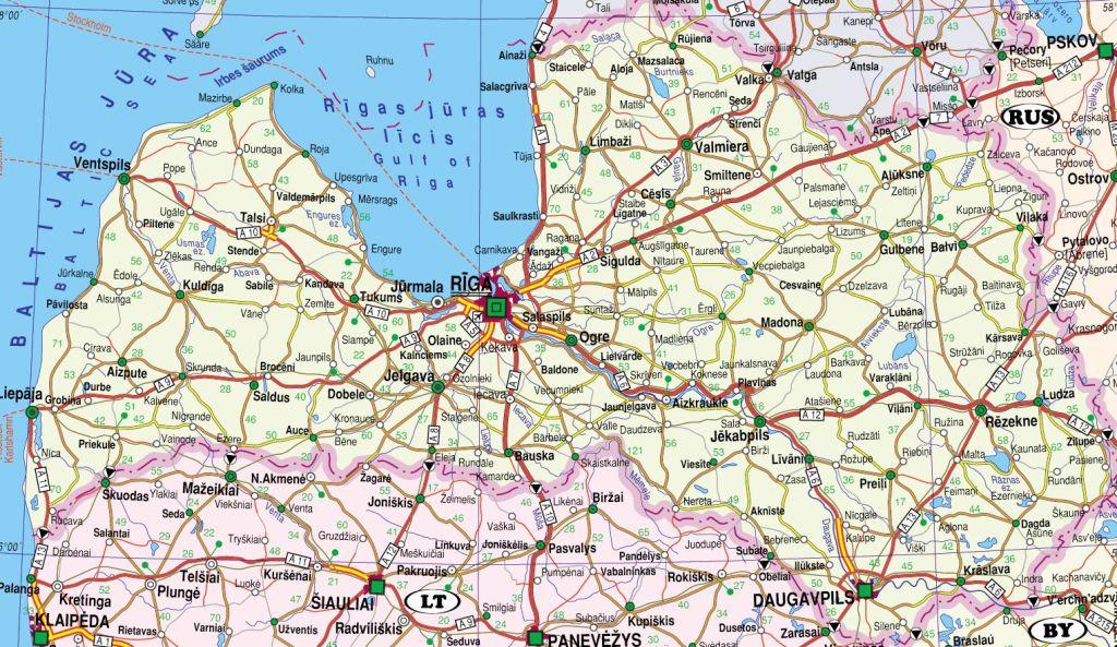 Балтия, Польша и Калининградская область - карты стран Балтии: http://baltija.ucoz.lv/index/0-66
